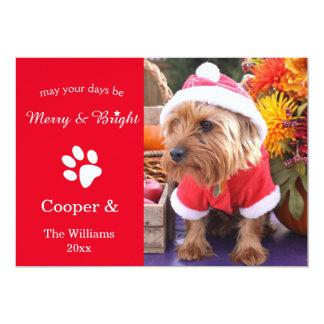 Älsklings- fotokort för glad & ljus beställnings- 12,7 x 17,8 cm inbjudningskort
