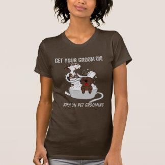 Älsklings- Groomerdräkt i brunt med humor T Shirt