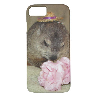 Älsklings- Groundhog Clara med blomman