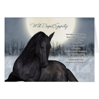Älsklings- hästsympatikort, förlust av den älsklin hälsningskort