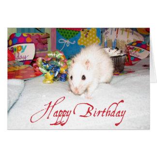 Älsklings- kort för råttaMarta födelsedag