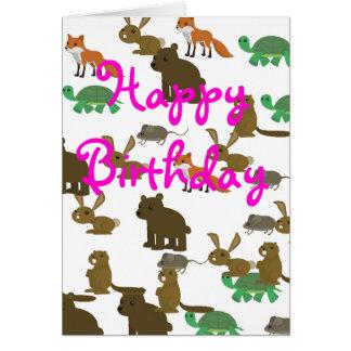 Älsklings- kort för tecknaddjurfödelsedag