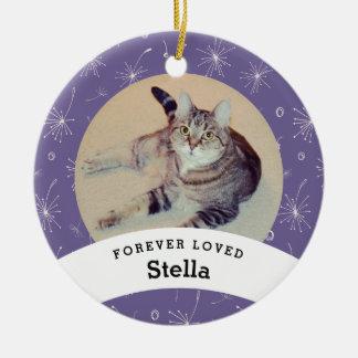 Älsklings- minnesmärkepersonliglilor tillfogar julgransprydnad keramik