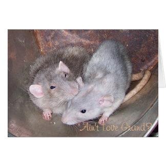 Älsklings- råttaårsdagkort hälsningskort