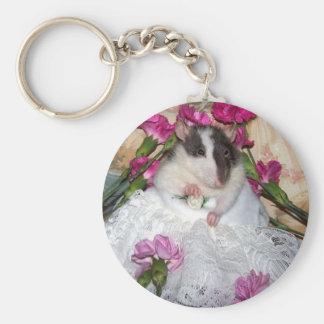 Älsklings- råttabrud Trudy Keychain Rund Nyckelring
