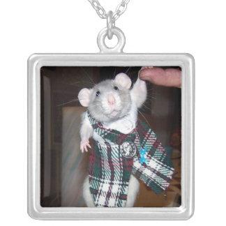 Älsklings- råttaRubyhalsband Silverpläterat Halsband