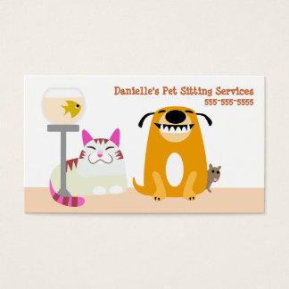 Älsklings- sitta servar visitkort