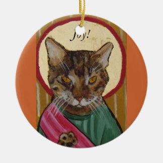 älsklings- symbolskattglädje! julgransprydnad keramik