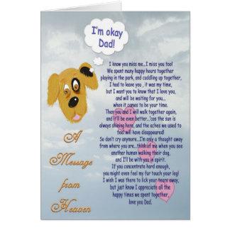 Älsklings- sympati-/Hund-Manlig ägare Hälsningskort
