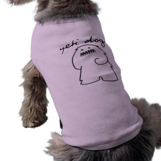 Älsklings- T-tröja för Yetihundar (den mörka logot Hundtröja