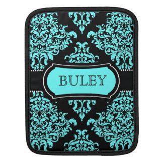 Älskvärd Dovey damastast turkossvart för 311 iPad Sleeve