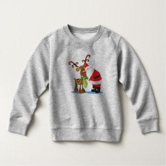 Älskvärd jultomten och tröja för ren  