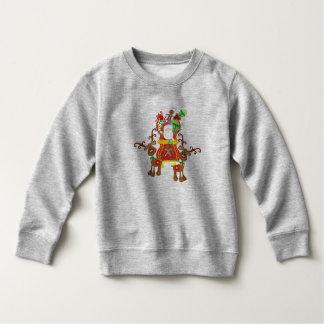 Älskvärd jultomten och tröja för renar  