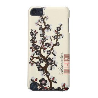 Älskvärd körsbärsröd blommaripod touch case (svart iPod touch 5G fodral