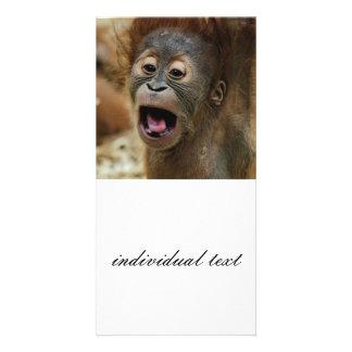älskvärd Orang baby Fotokort