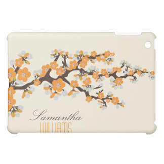 Älskvärd orange körsbärsröd blommar iPad mini skydd