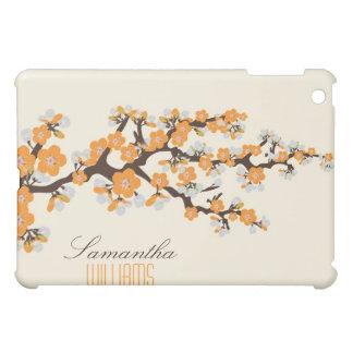 Älskvärd orange körsbärsröd blommar iPad mini mobil skydd