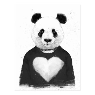 Älskvärd panda vykort