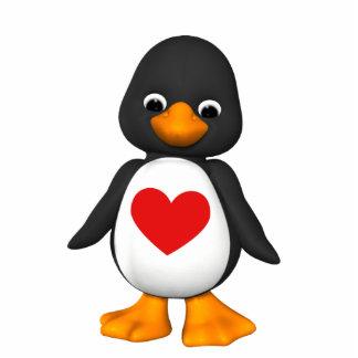 Älskvärd pingvin för prydnad