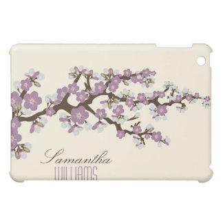 Älskvärd purpurfärgad körsbärsröd blommar iPad mini skydd