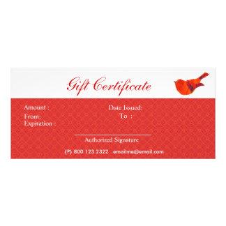 Älskvärd röd lite fågel för djur reklamkort