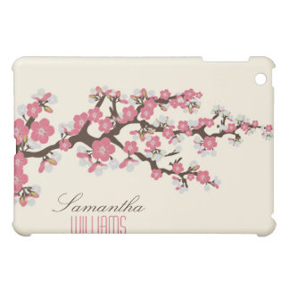 Älskvärd rosa körsbärsröd blommar iPad mini skal