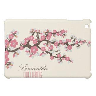 Älskvärd rosa körsbärsröd blommar iPad mini skydd