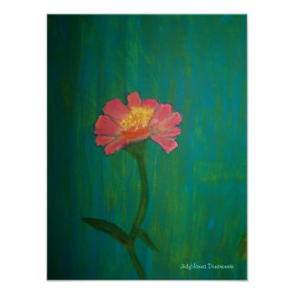 Älskvärd rosa Zinnia Poster