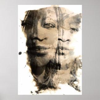 älskvärd svartvit affisch