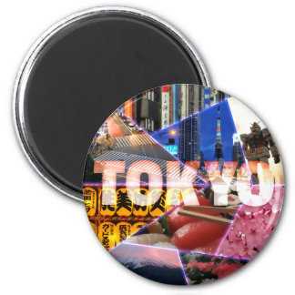 Älskvärd Tokyo rundamagnet Magnet