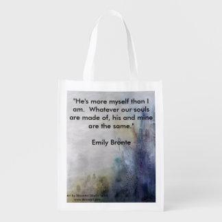 Älskvärda blått med Emily Bronte Återanvändbara Påsar