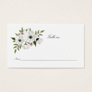 Älskvärda blom- ställekort visitkort