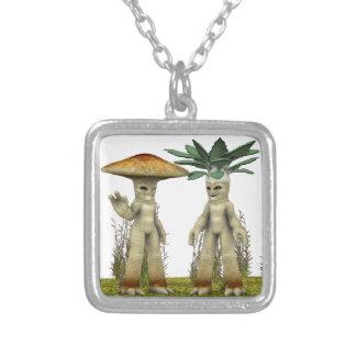 Älskvärda grönsaker - vinka silverpläterat halsband