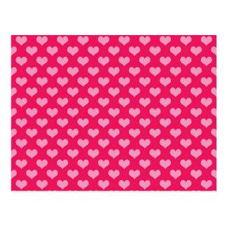 Älskvärda rosa hjärtor vykort