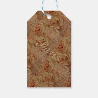 Älskvärda rosa Parisian rosa Collagemärkre Presentetikett