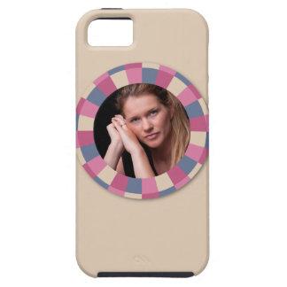 """älskvärt cirkla ramen - """"steg beigen"""" på beige iPhone 5 cover"""