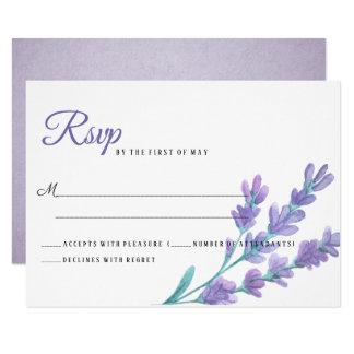 Älskvärt ljust - purpurfärgad lavendel blommar 8,9 x 12,7 cm inbjudningskort
