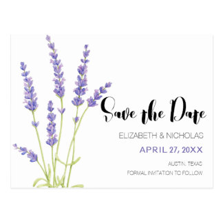 Älskvärt ljust - purpurfärgad lavendelfotospara vykort