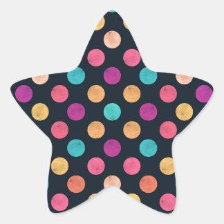 Älskvärt pricker mönster II Stjärnformat Klistermärke