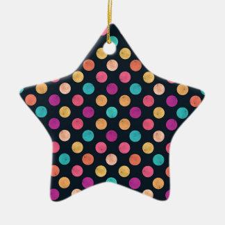 Älskvärt pricker mönster julgransprydnad keramik