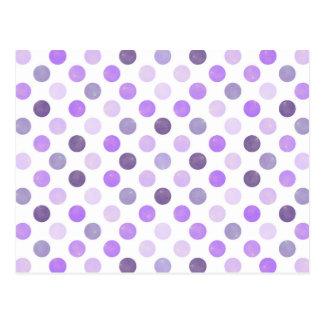 Älskvärt pricker mönster VI Vykort
