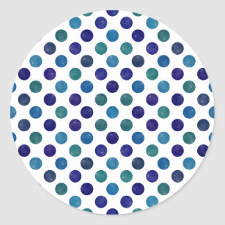 Älskvärt pricker mönsterdropp runt klistermärke