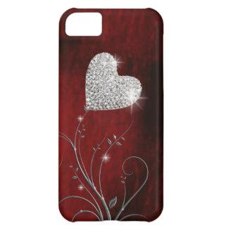 älskvärt rött för hjärta flickaktigt iPhone 5C fodral