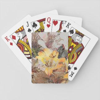 Alstroemeriablommor som leker kort casinokort