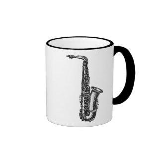 Alt- saxofon ringer mugg