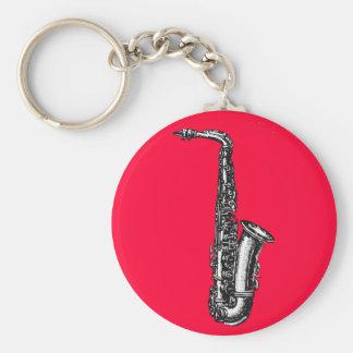 Alt- saxofon rund nyckelring