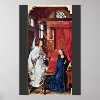 Altarevänsterkanten för tre kung: Annunciationen Poster