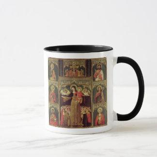 Altarpiece av oskulden av radbandet, c.1500 mugg