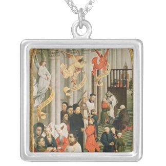 Altarpiecen för sju Sacraments Silverpläterat Halsband