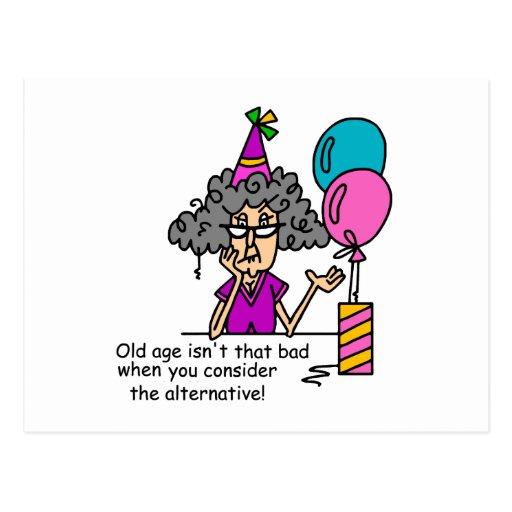 Alternativ humor för födelsedag vykort